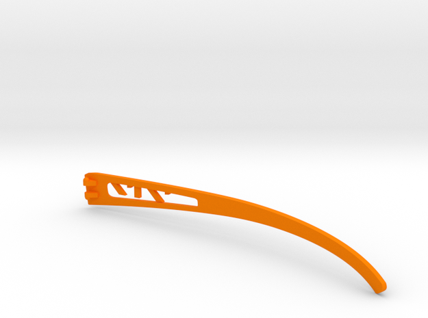 Vanderpool Vision Spec2&3_Right Temple_VER717_2_RE in Orange Strong & Flexible Polished