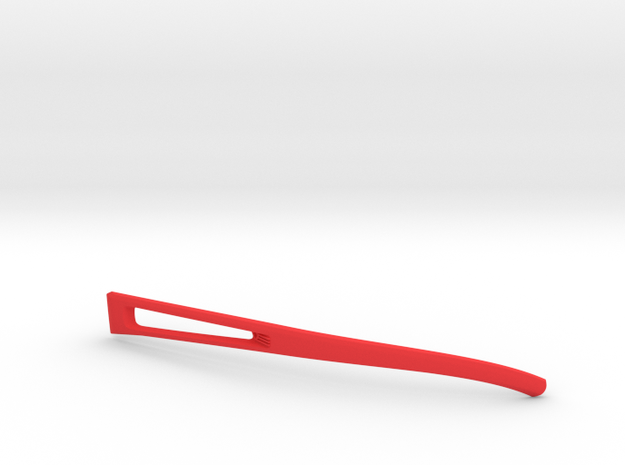 Vanderpool Vision Spec2&3_Left Temple_VER0_REV2 in Red Strong & Flexible Polished