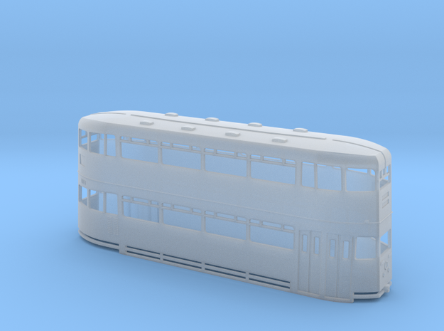 Glasgow Cunarder - No Roof Lights - N Scale in Smooth Fine Detail Plastic
