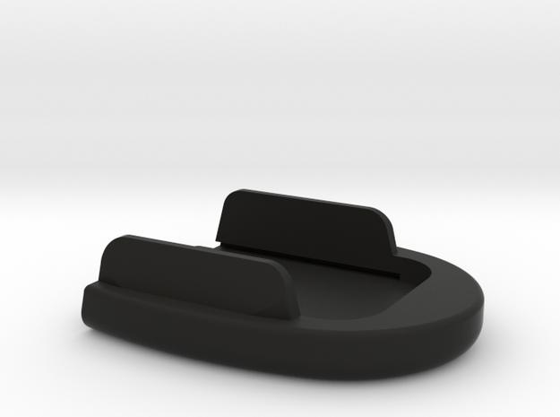 SIG P320 New Basepad w/ tapered tabs - Circle in Black Natural Versatile Plastic