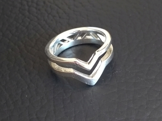 Tri-Ring in Fine Detail Polished Silver