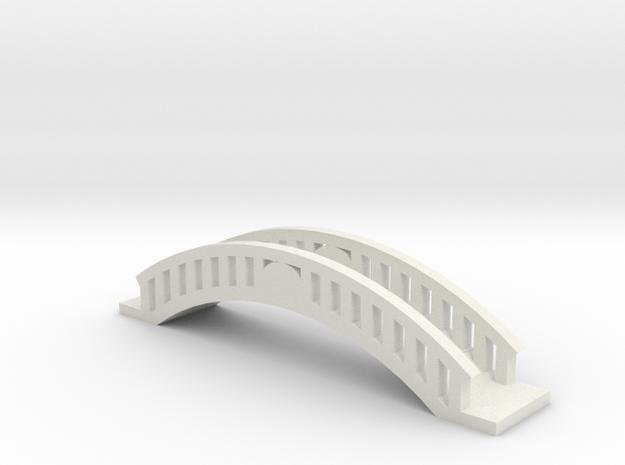 Micro Garden Bridge in White Natural Versatile Plastic