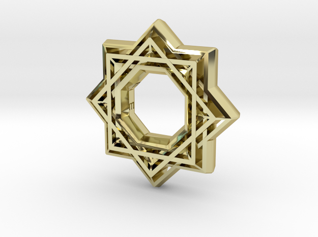 Star no diamond in 18k Gold Plated Brass