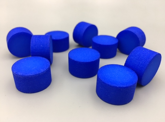Cylindrical Coin Set - Ratio 1 : sqrt3 in Blue Processed Versatile Plastic