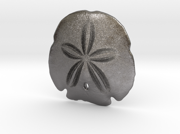 Arrowhead Sand Dollar Pendant in Polished Nickel Steel