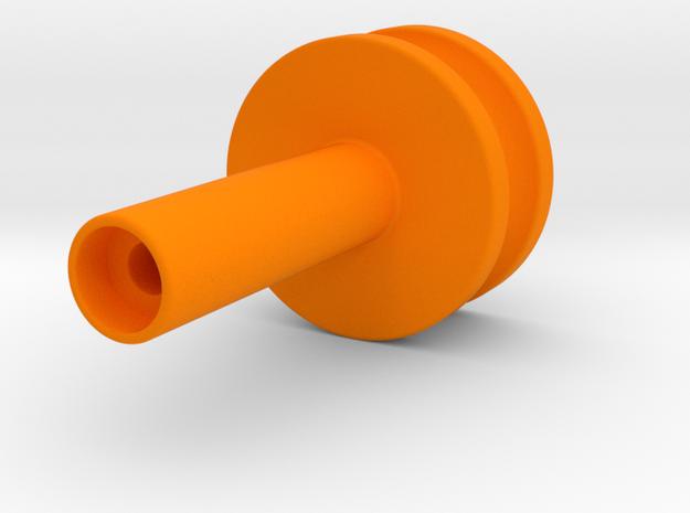 Dudley Pulley in Orange Processed Versatile Plastic