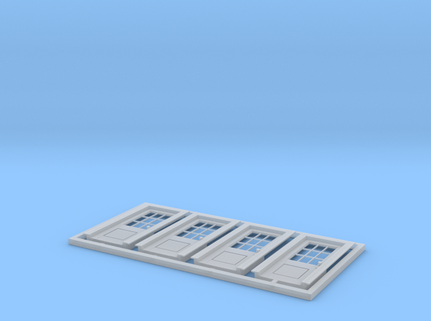 """HO Scale set of four - 6' 10"""" x 34 """" No 5 standard in Smoothest Fine Detail Plastic"""