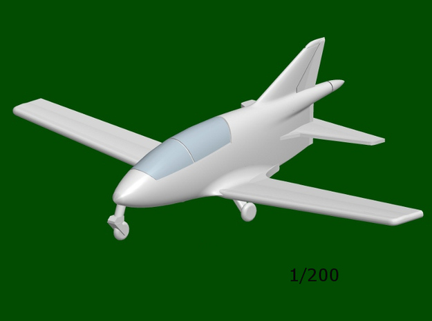 Bede BD-5B MICRO, scale 1/200 in Smoothest Fine Detail Plastic