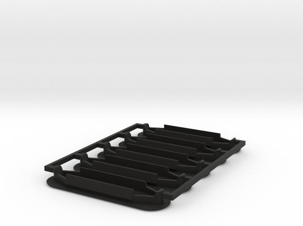 Lancia Delta 1 Spoiler Seal plug SET in Black Natural Versatile Plastic