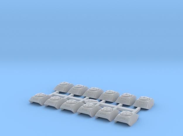 Shoulder Pads Kilo 1 in Smooth Fine Detail Plastic