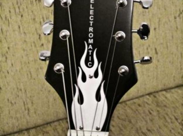 Guitar Truss Rod Cover (expanded) 3d printed printed in White Strong and Flexible