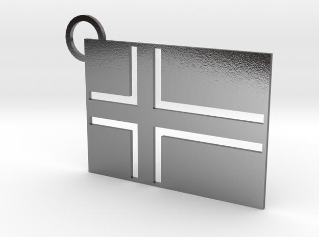Norwegian Flag Keychain