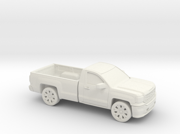1/87 2013-17 GMC Sierra Reg Cab Long Bed in White Natural Versatile Plastic