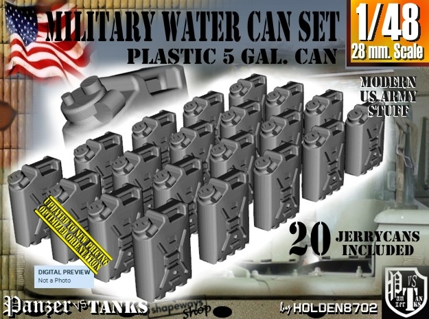 1/48 Military Water Can Set301 in Frosted Ultra Detail