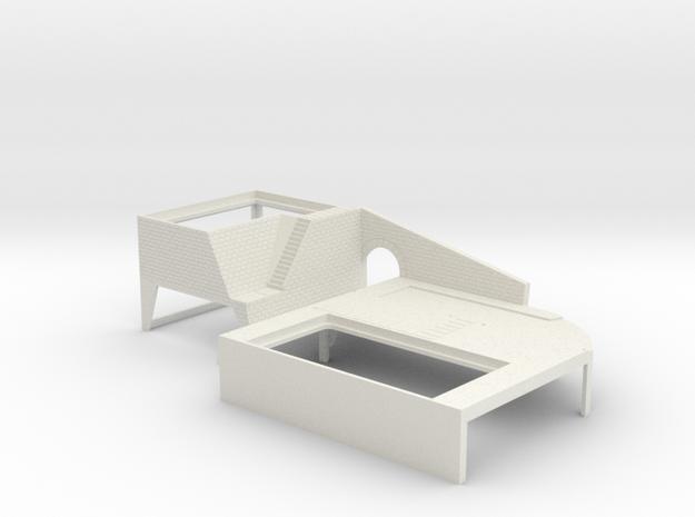 Onsen diorama base in White Natural Versatile Plastic