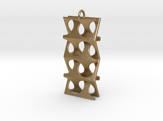 Woven-02 in Polished Gold Steel