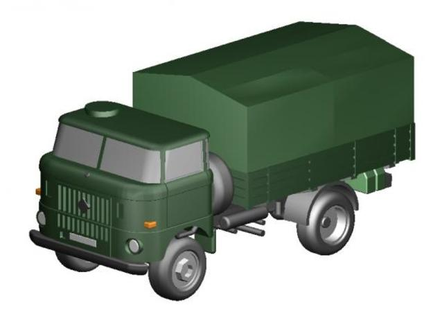 W50 kurz Pritsche NVA / short flatbed Military in Frosted Ultra Detail