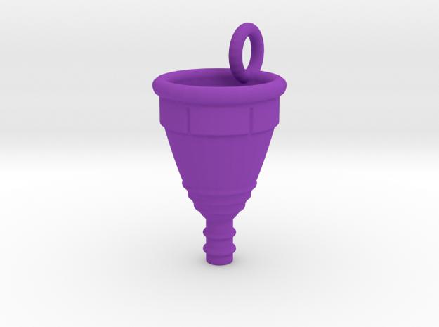 Menstrual Cup Pendant large in Purple Processed Versatile Plastic