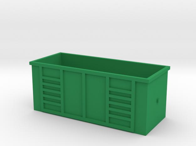 Dumpster  in Green Processed Versatile Plastic: 1:48 - O