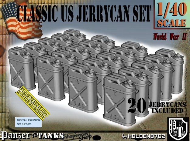 1/40 US Jerrycan x20 Set101 in Frosted Ultra Detail