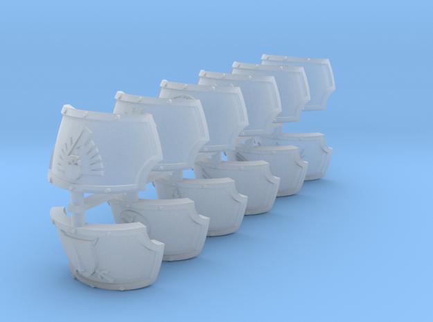 Commission 29 Centaur Shoulder Pads in Smooth Fine Detail Plastic