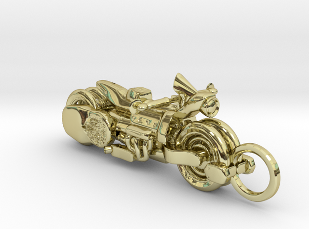 Cleome and Bike in 18k Gold