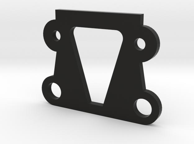 TLR 22 Front Kickup Shim (25*) (ALL 22)  in Black Natural Versatile Plastic