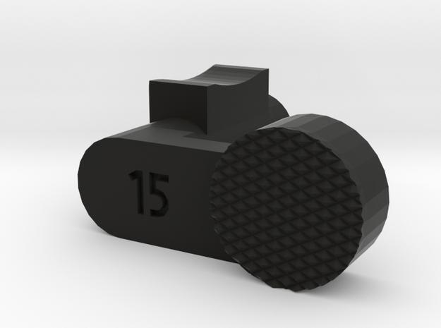 Luger disassembly lever in Black Natural Versatile Plastic