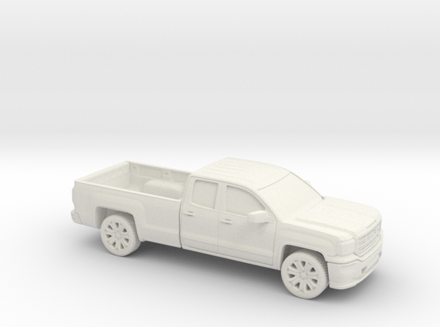 1/87 2013-17  GMC Sierra Ext.Cab Long Bed in White Natural Versatile Plastic
