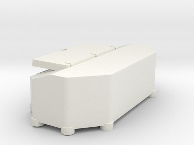 1/144 Bismarck stern deck hatch v6 in White Natural Versatile Plastic