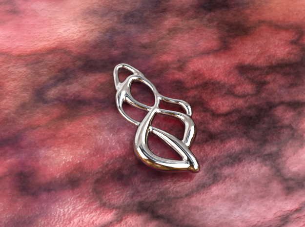 Crossing ways in Polished Silver