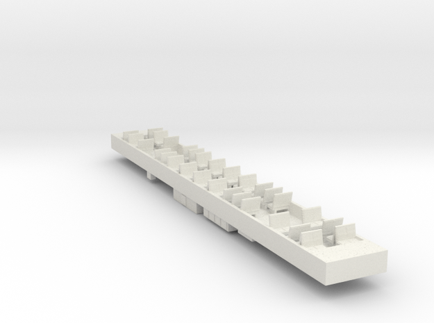 Siemens T Car Dummy Chassis V2 in White Strong & Flexible