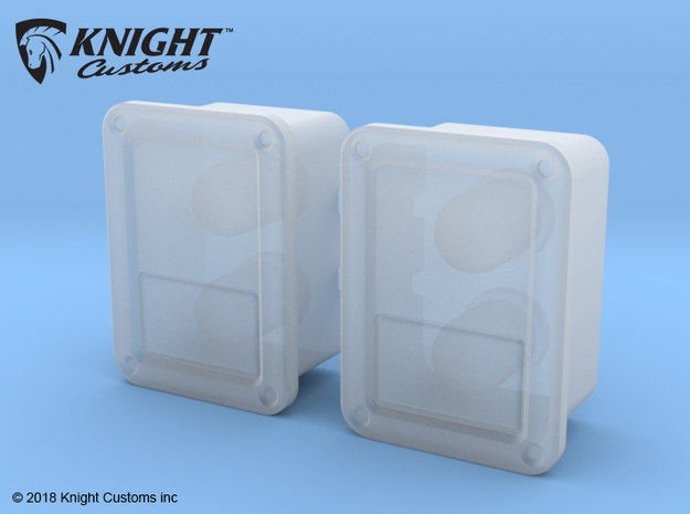 TR30002 TRX4 JK REAR light buckets in Smooth Fine Detail Plastic