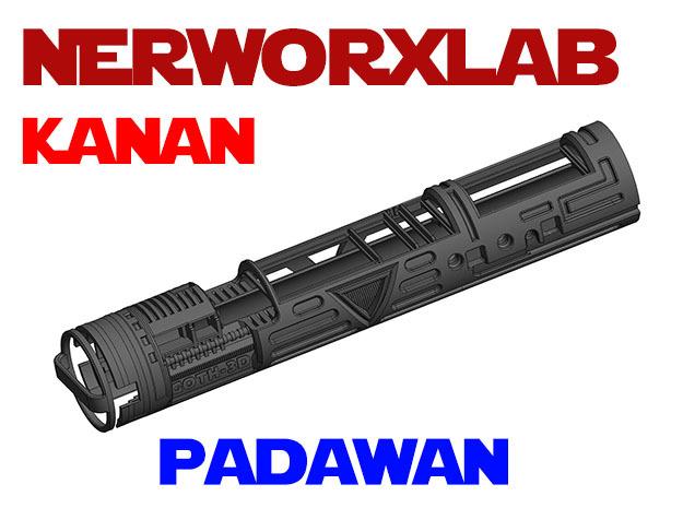 NWL Kanan - Padawan Lightsaber Chassis in White Natural Versatile Plastic