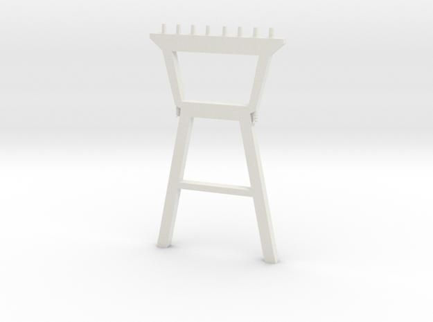Power Line - Variation C  in White Natural Versatile Plastic