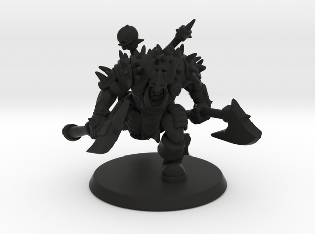 Orc Warlord in Black Natural Versatile Plastic