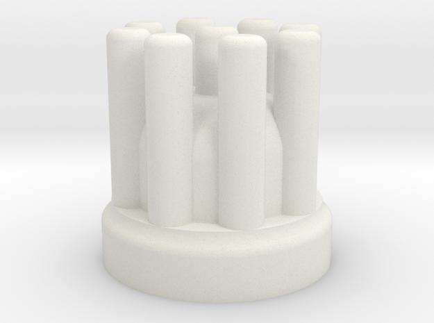 1:10 Scale RC Distributor Cap in White Natural Versatile Plastic