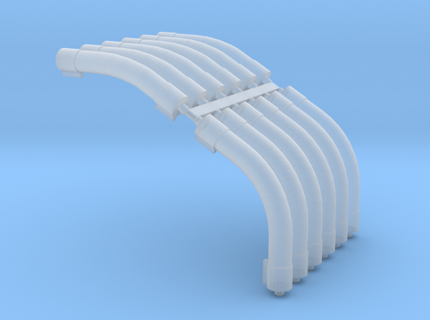 1/64 Air System Roof Bends in Smooth Fine Detail Plastic
