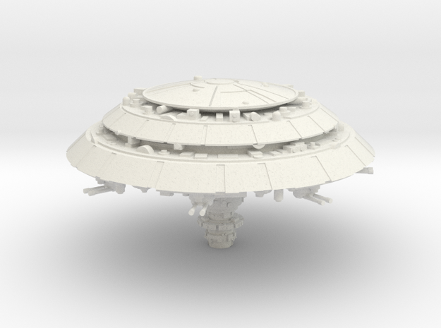 Orbital Facility in White Natural Versatile Plastic