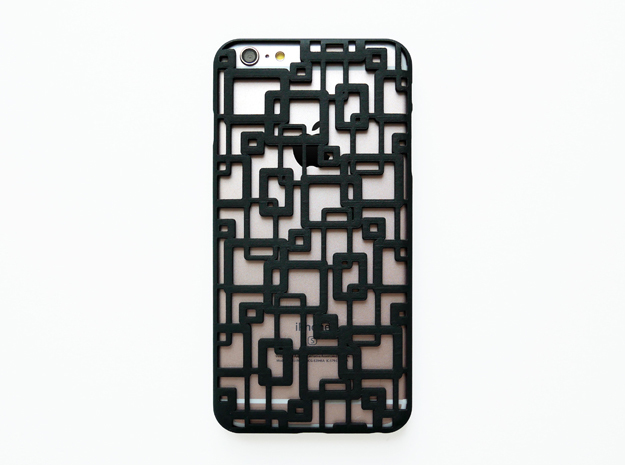 iPhone 6 plus / 6S plus Case_Connection in Black Natural Versatile Plastic