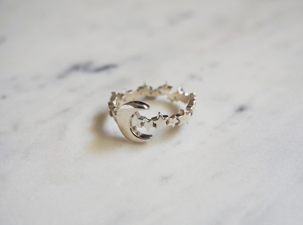 Celestial Ring in Polished Silver: 7 / 54