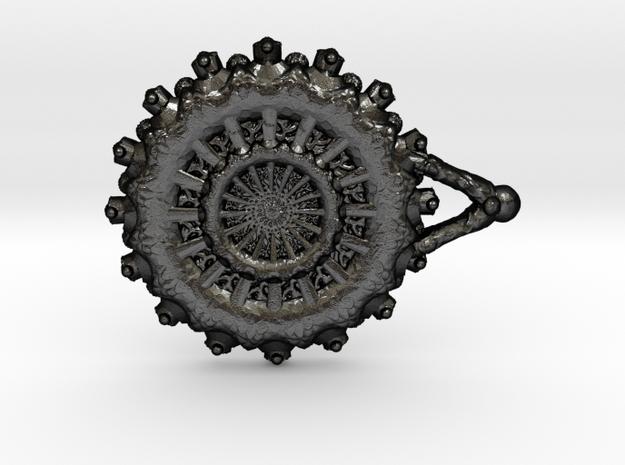 Soul Window Pendant in Matte Black Steel