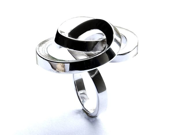 Ring Love is in the AIR Large in Polished Silver: 6.25 / 52.125