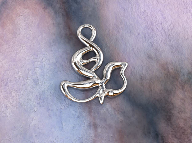 Innocent flower in Polished Silver