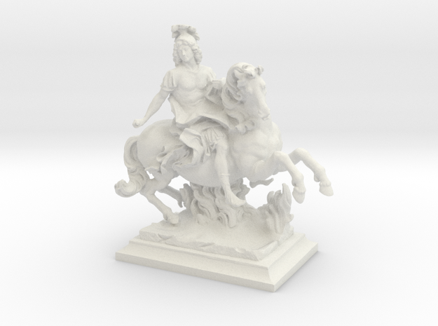 Equestrian Statue of King Louis XIV of France, Lou in White Natural Versatile Plastic