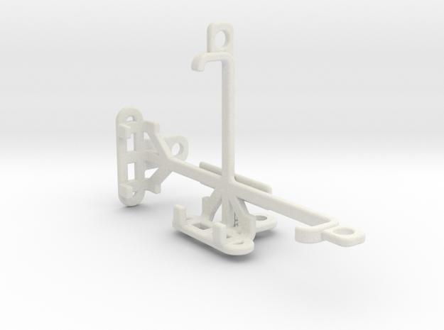 HTC Zeta tripod & stabilizer mount in White Natural Versatile Plastic