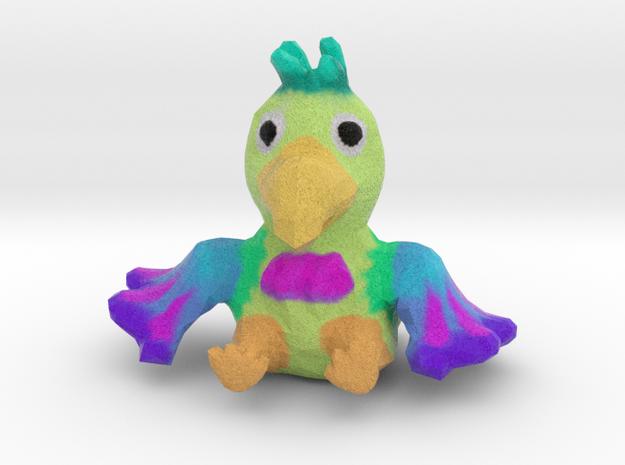Parrot Figurine in Full Color Sandstone