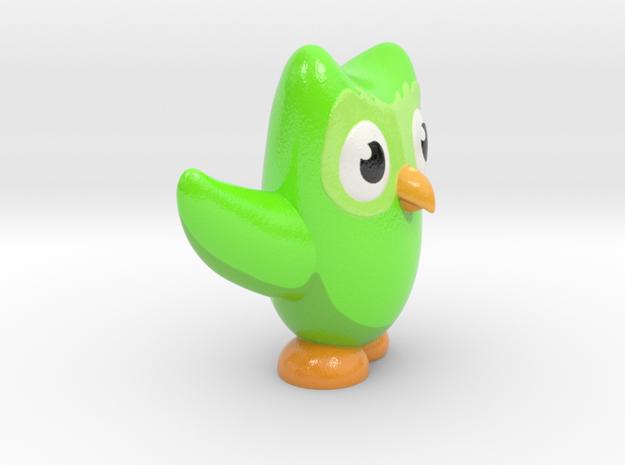 Duolingo Owl Figure in Glossy Full Color Sandstone