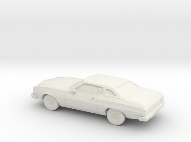 1/87 1974-76 Ford Gran Torino Brougham Coupe in White Natural Versatile Plastic