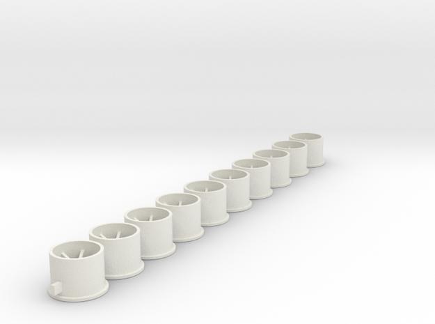 Flachfelge 11x8x2_0Fl in White Natural Versatile Plastic
